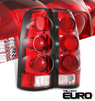 Chevy 1500 Pickup 1988-1998 Red Altezza Tail Lights