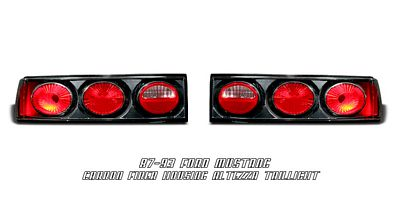 Ford Mustang 1987-1993 Carbon Fiber Altezza Tail Lights
