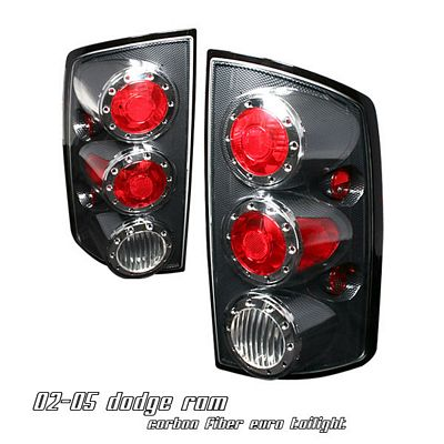 Dodge Ram 2002-2005 Carbon Fiber Altezza Tail Lights