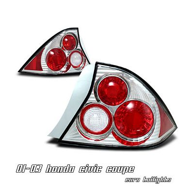 Honda Civic Coupe 2001-2003 Clear Altezza Tail Lights