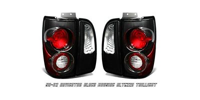 Lincoln Navigator 1998-2002 Black Altezza Tail Lights