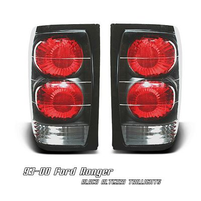 Ford Ranger 1993-2000 Black Altezza Tail Lights