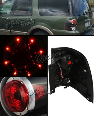 Ford Expedition 2003 2006 Black Led Cap Altezza Tail Lights