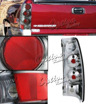 Chevy Silverado 1999-2002 Smoked Altezza Tail Lights