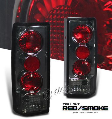 Chevy Astro 1985-2005 Smoked Altezza Tail Lights