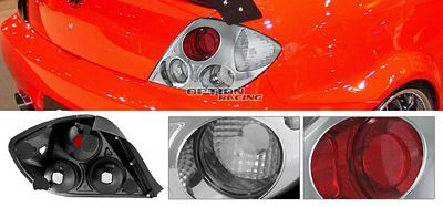 Hyundai Tiburon 2003-2006 Chrome Altezza Tail Lights