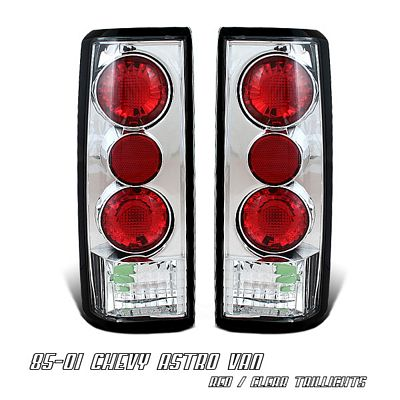 Chevy Astro 1985-2005 Clear Altezza Tail Lights