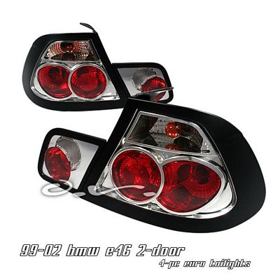 BMW E46 Coupe 3 Series 1999-2002 Clear Altezza Tail Lights