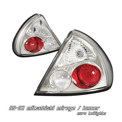 Mitsubishi Mirage 1999-2002 Clear Altezza Tail Lights