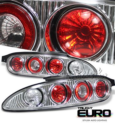 Mazda MX3 1992-1996 Clear Altezza Tail Lights