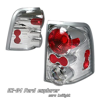 Ford Explorer 2002-2004 Chrome Altezza Tail Lights