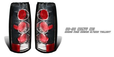 Chevy Suburban 1992-1999 Carbon Fiber Altezza G2 Tail Lights