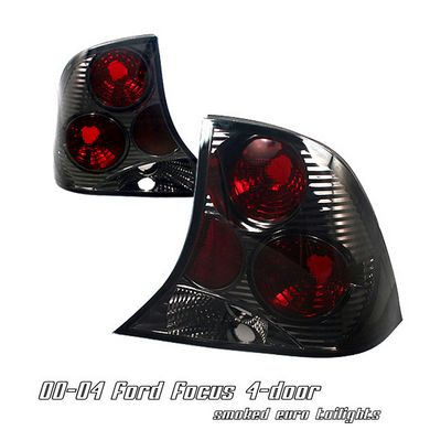Ford Focus Sedan 2000-2004 Smoked Altezza Tail Lights