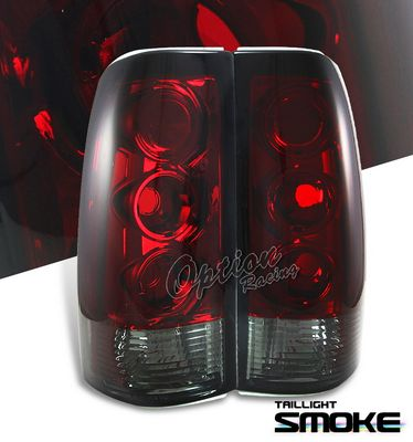 Chevy Silverado 1999-2002 Red and Clear Altezza Tail Lights