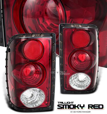 Ford Ranger 2001-2005 Smoky Red Altezza Tail Lights