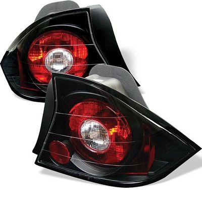 Honda Civic Coupe 2001-2003 JDM Black Altezza Tail Lights