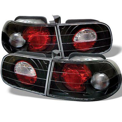 Honda Civic Hatchback 1992-1995 JDM Black Altezza Tail Lights