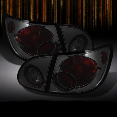 2007 Toyota Corolla Smoked Altezza Tail Lights