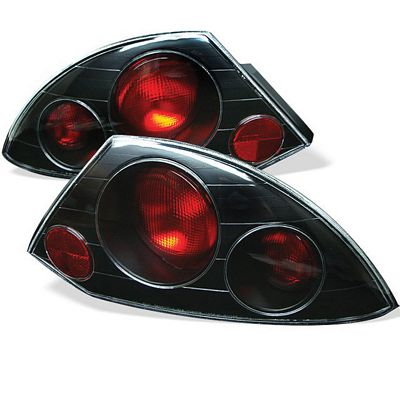 Mitsubishi Eclipse 2000-2005 Black Altezza Tail Lights