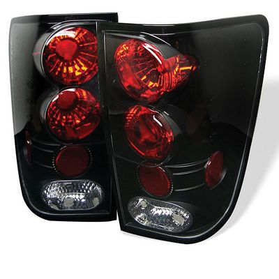 Nissan Titan 2004-2012 Black Altezza Tail Lights