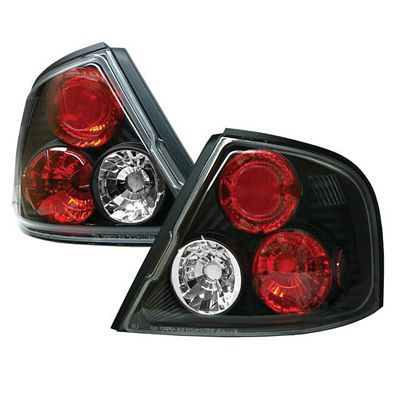 Nissan Altima 1998-2001 Black Altezza Tail Lights