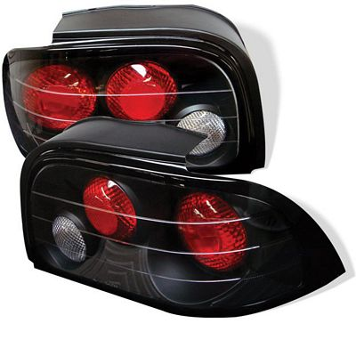 Ford Mustang 1994-1995 Black Altezza Tail Lights
