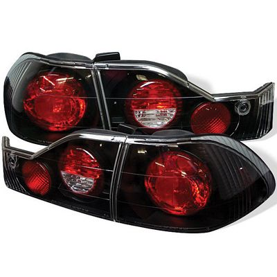 Honda Accord Sedan 1998-2000 Black Altezza Tail Lights
