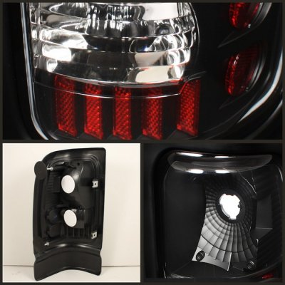 Dodge Ram 1994-2001 Black Altezza Tail Lights