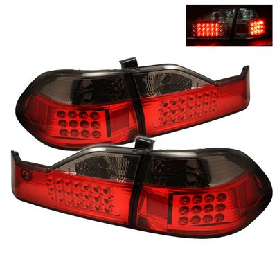 Honda Accord Sedan 1998 2000 Red And Smoked Led Tail Lights A103pmm0110 Topgearautosport