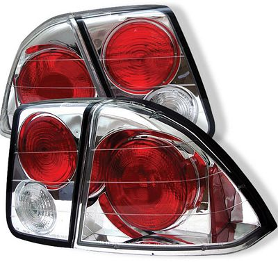 Honda Civic Sedan 2001-2003 Clear Altezza Tail Lights