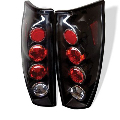 Chevy Avalanche 2002-2005 Black Altezza Tail Lights