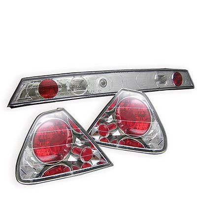 Honda Accord Coupe 1998-2000 Clear Altezza Tail Lights with Trunk Light