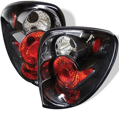 Dodge Caravan 2001-2004 Black Altezza Tail Lights