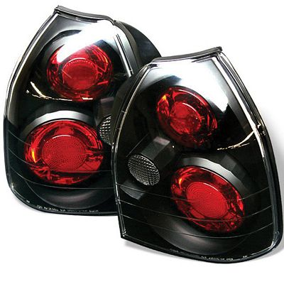 Honda Civic Hatchback 1996-2000 Black Altezza Tail Lights