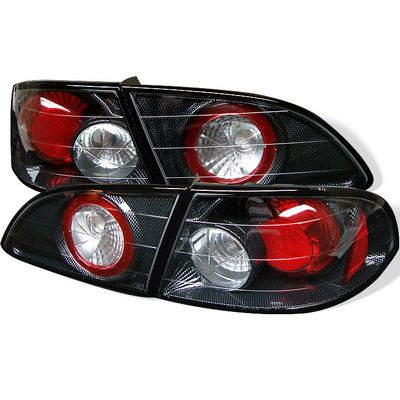 Toyota Corolla 1998-2002 Carbon Fiber Altezza Tail Lights