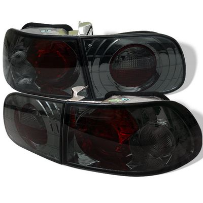 Honda Civic Hatchback 1992-1995 Smoked Altezza Tail Lights