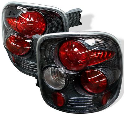 Chevy Silverado 1999-2004 Carbon Fiber Stepside Altezza Tail Lights