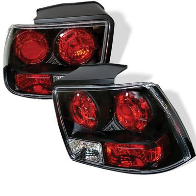 Ford Mustang 1999-2004 Black Altezza Tail Lights