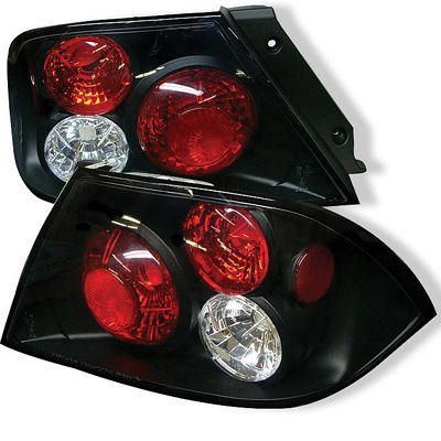 Mitsubishi Lancer 2002-2003 Black Altezza Tail Lights