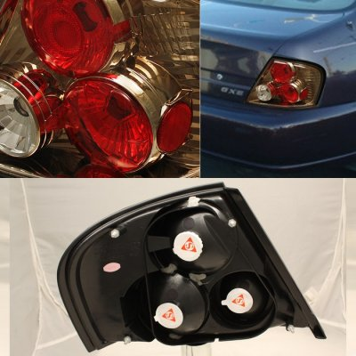 Nissan Altima 1998 2001 Dark Chrome Altezza Tail Lights