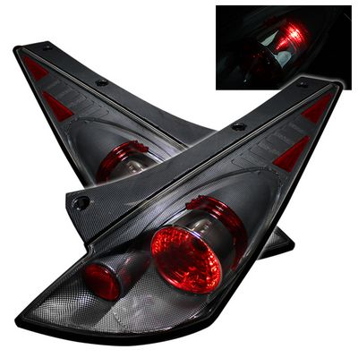 Nissan 350z 2002 2005 Carbon Fiber Altezza Tail Lights