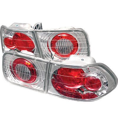 Honda Civic Coupe 1996-2000 Clear Altezza Tail Lights