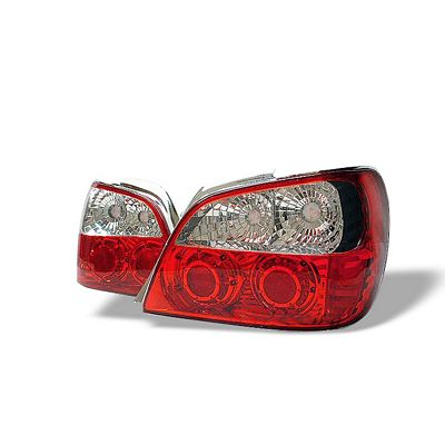 Subaru Impreza 2002-2003 Red and Clear Altezza Tail Lights