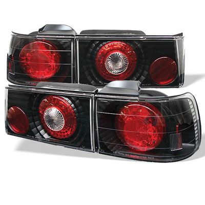 Honda Accord Sedan 1990-1991 Black Altezza Tail Lights