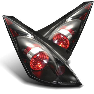 Nissan 350Z 2002-2005 Black Altezza Tail Lights