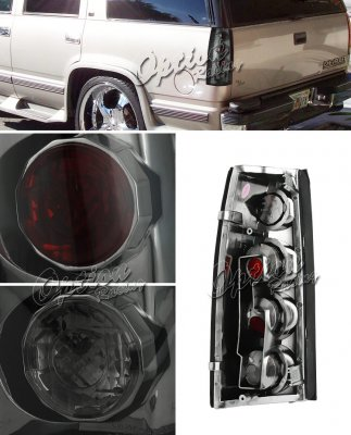 Cadillac Escalade 1999-2000 Smoked Altezza Tail Lights