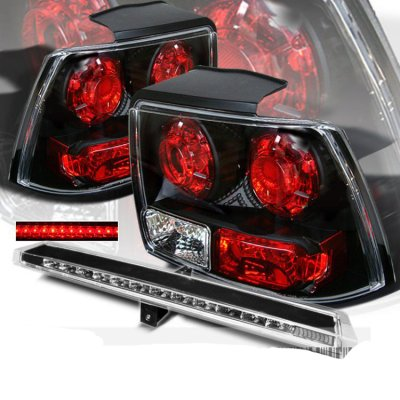 Ford Mustang 1999 2004 Black Tail Lights And Led Third Brake Light A103w696110 Topgearautosport