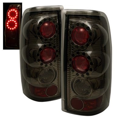 Chevy Silverado 1999-2002 Smoked Ring LED Tail Lights
