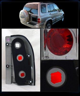 Suzuki Grand Vitara 1999-2004 Chrome Custom Tail Lights