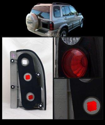 Suzuki Grand Vitara 1999-2004 Black Custom Tail Lights